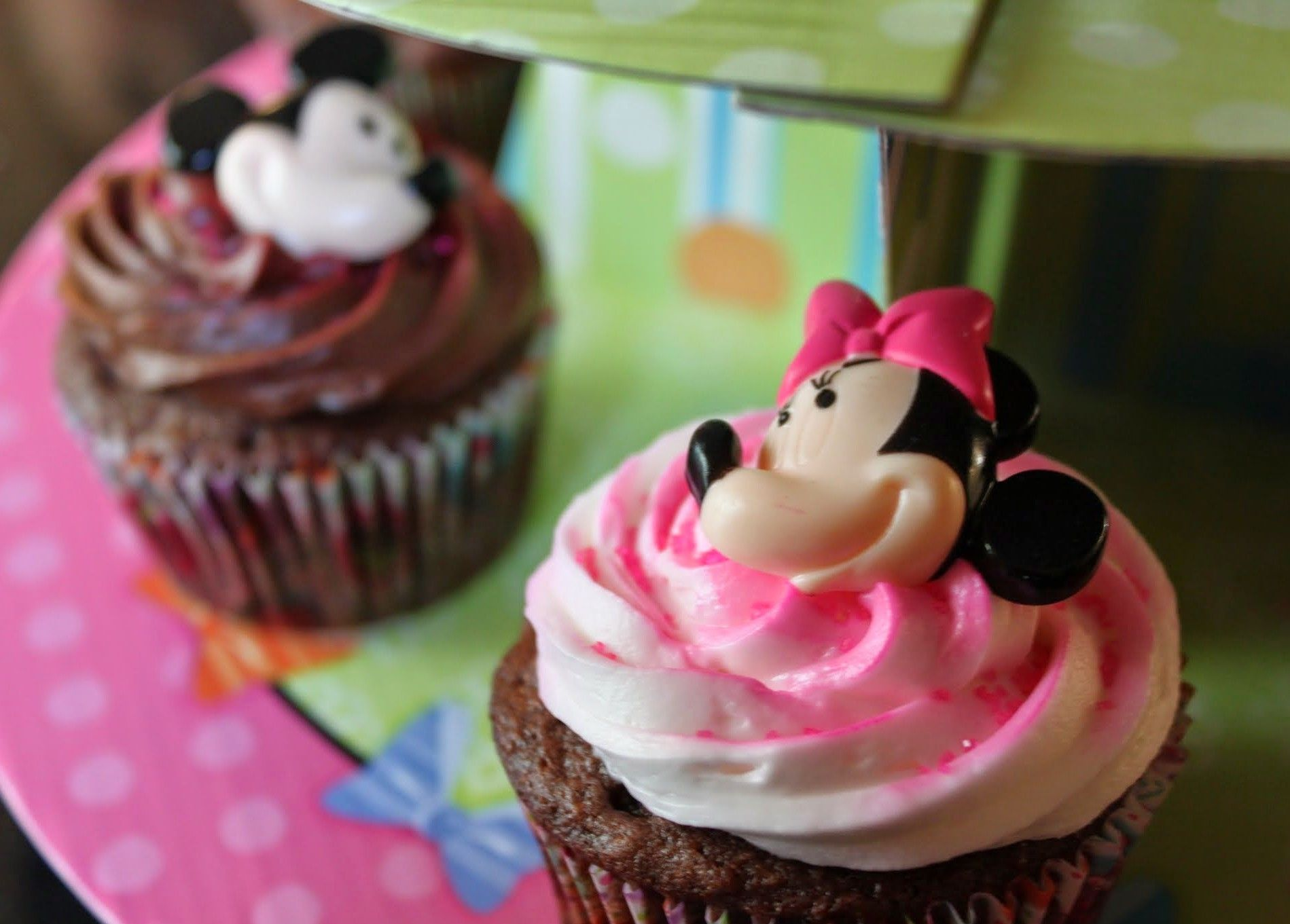 Chocolate birthday cupcakes for my baby she loves minnie
