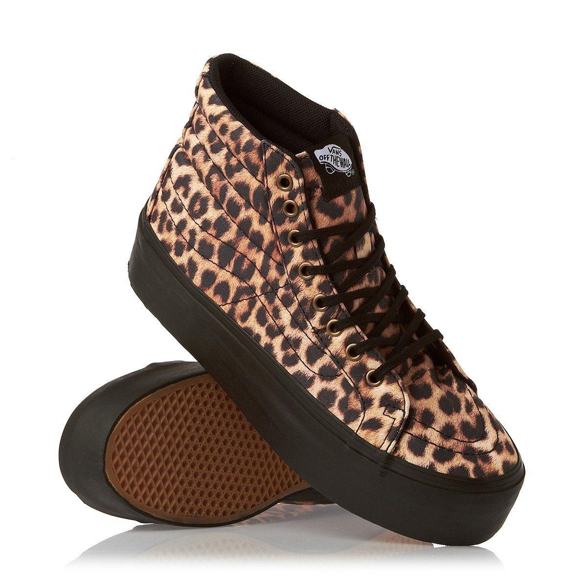 Vans Footwear Sk8 Hi Platform Sneaker Black Leopard Print