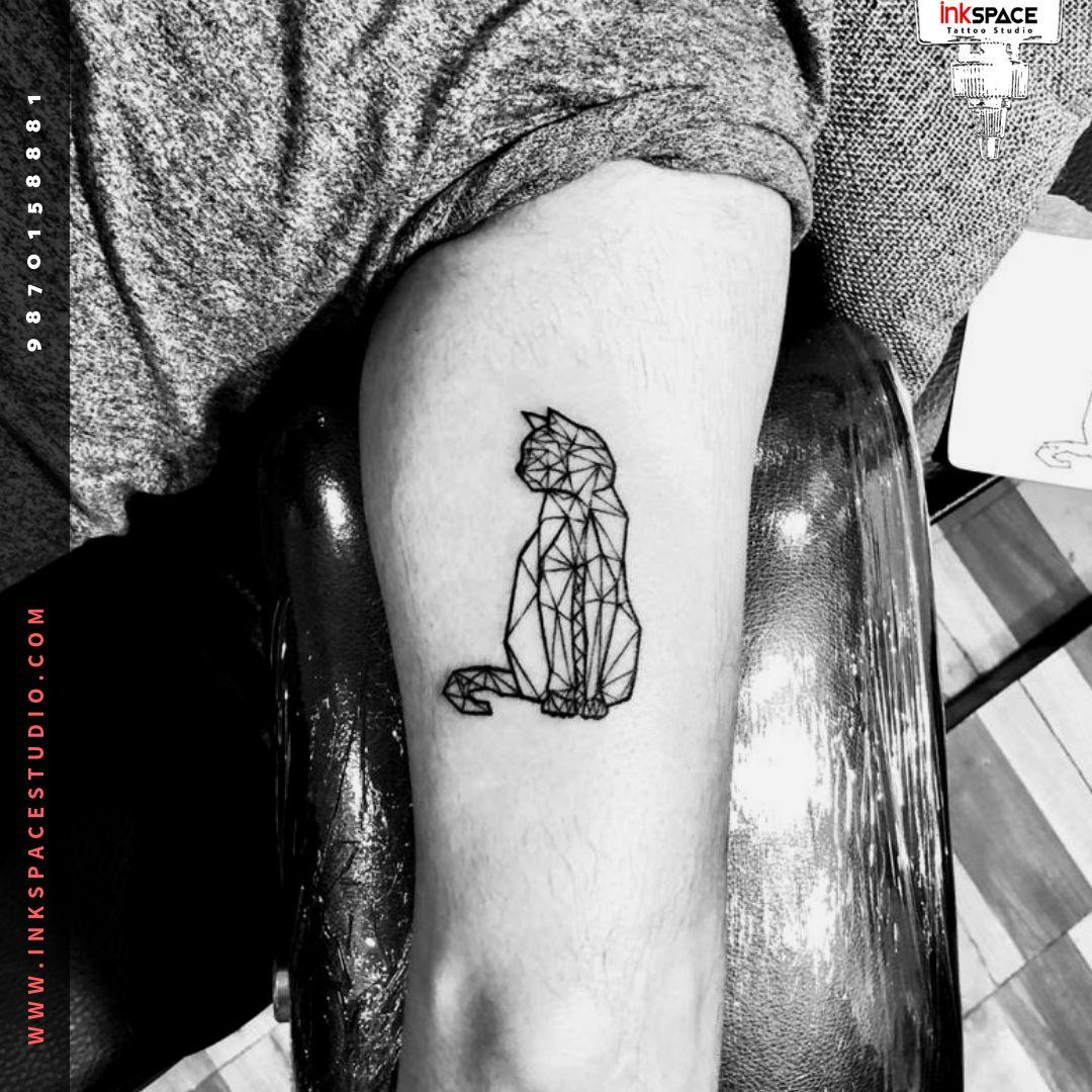 Persian Cat Geometric Tattoo Persian Tattoo Geometric Cat Tattoo Cat Tattoo Designs