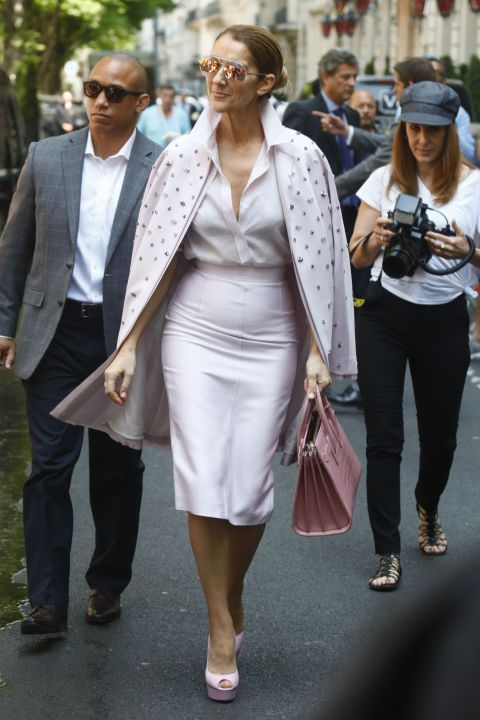 49b4d8c87b Celine Dion was pretty in pink wearing Dior sunglasses