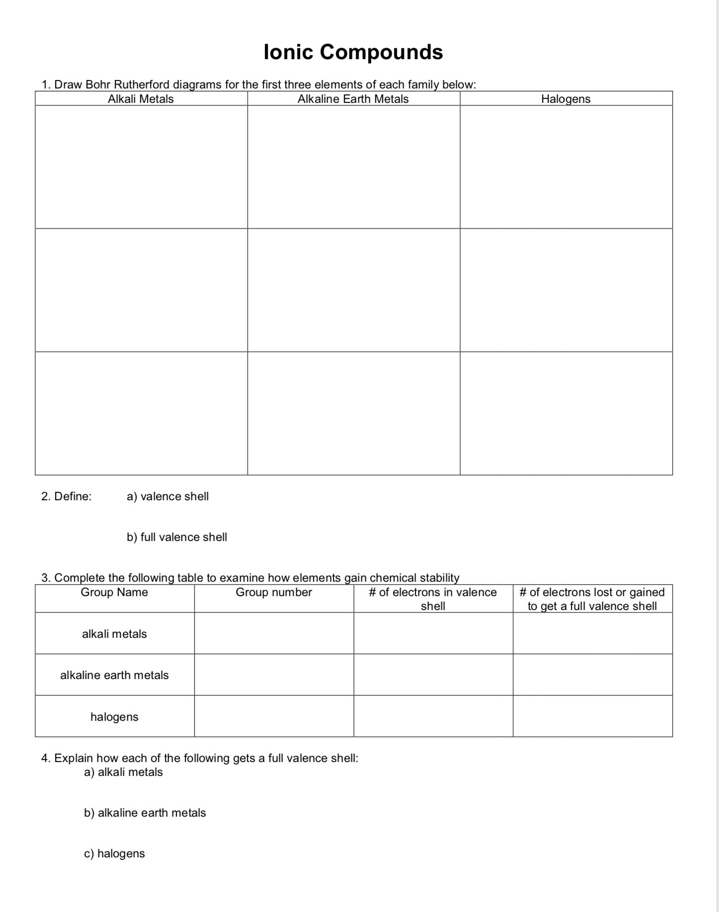 Ionic Compounds Worksheet Monday April 15 2019 Ionic Compound Compounds Chemistry