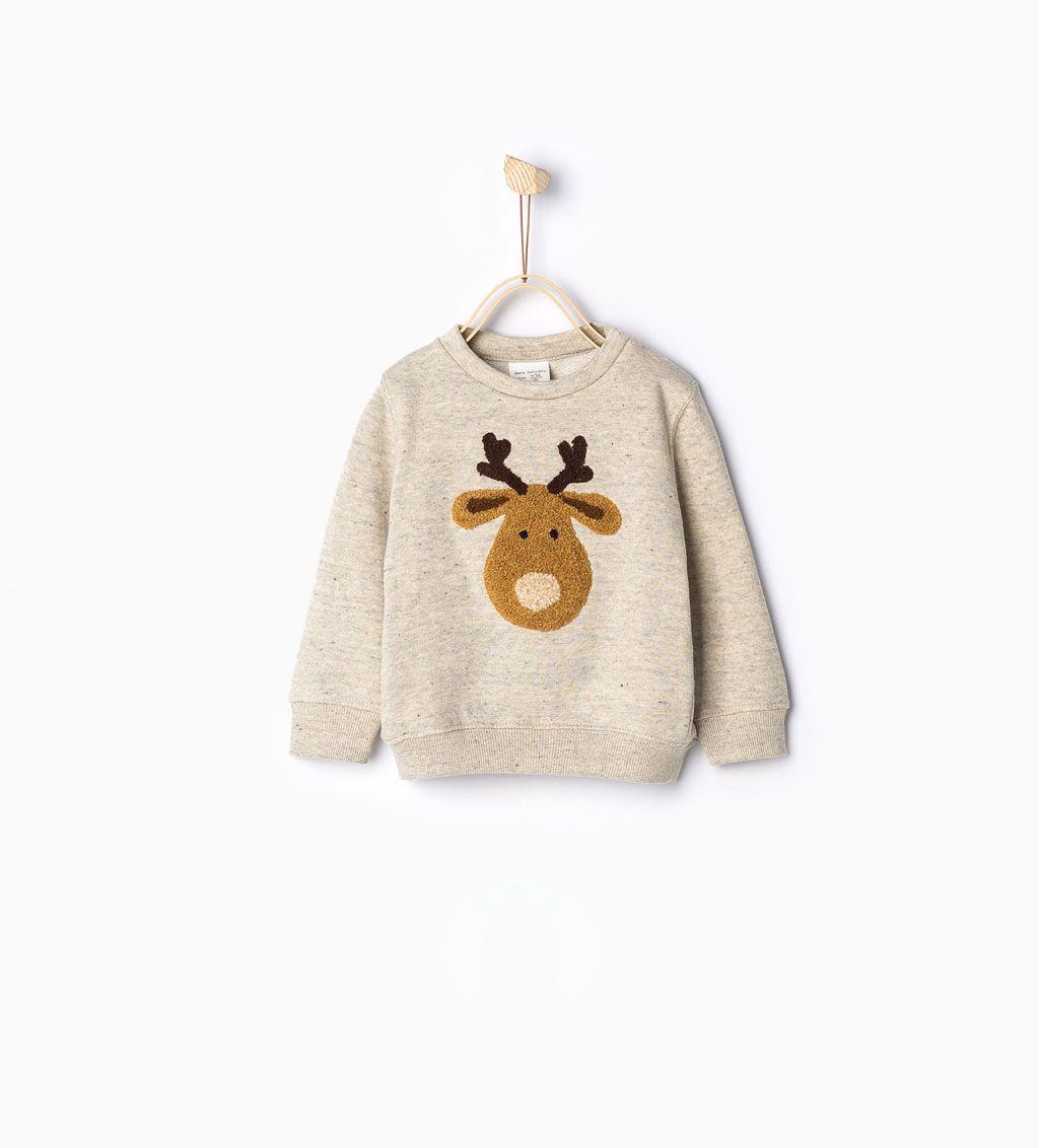 Reindeer sweatshirt-Ready to party-Baby boy | 3 months - 3 ...