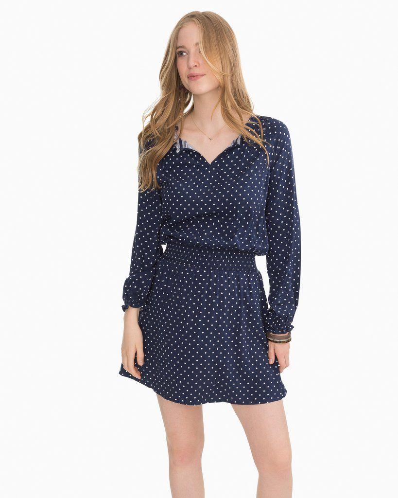 Women S Dresses Lucinda Long Sleeve Polka Dot Dress Southern Tide Long Sleeve Dress Womens Dresses Feminine Dress [ 1024 x 819 Pixel ]