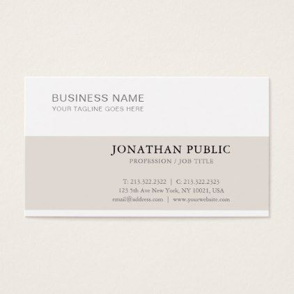 Stylish Clean Creative Modern Plain Trendy Luxury Business Card   Architect  Gifts Architects Business Diy Unique