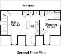 Carriage house 2nd Floorplan - add shed dormer on back side and reconfigure from dormers