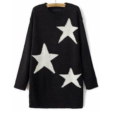 39,90EUR Sternenpullover Pullover mit Sternen schwarz