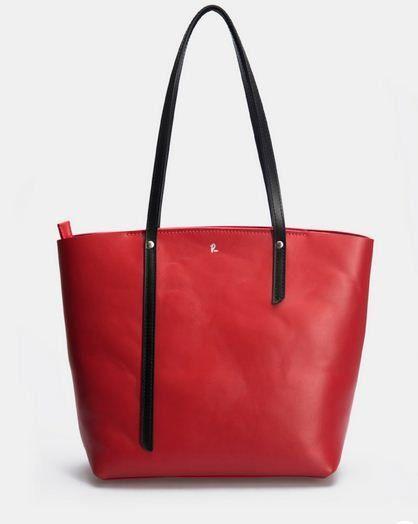 Red work tote bag on zipper for women Computer bag Roomy shopping bag#Eyes
