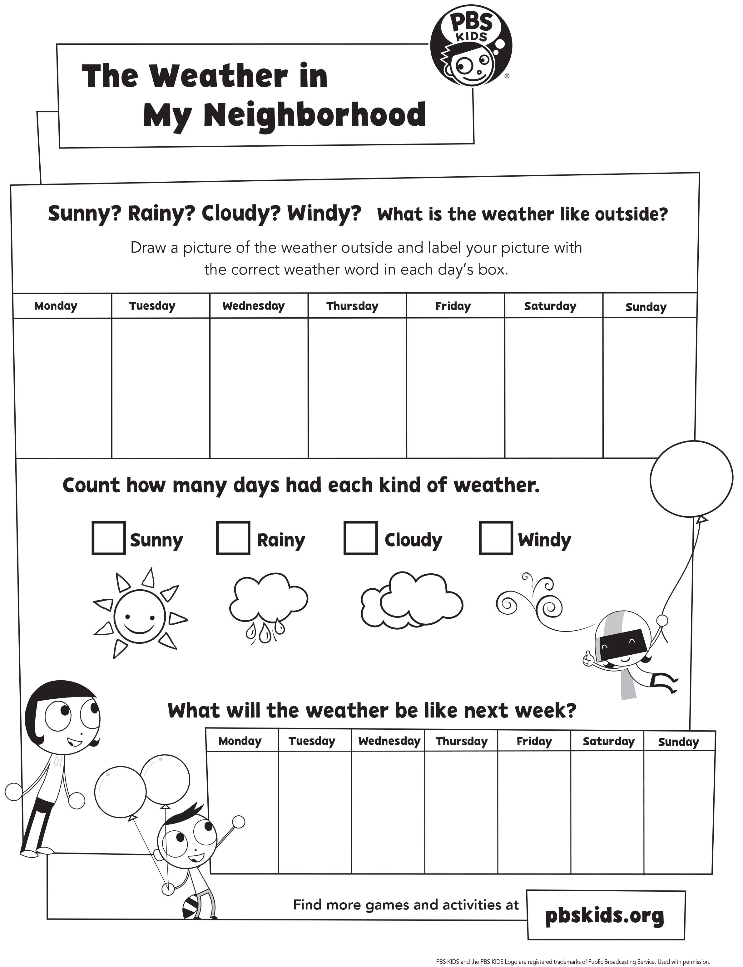 explore the weather in your neighborhood with this activity from