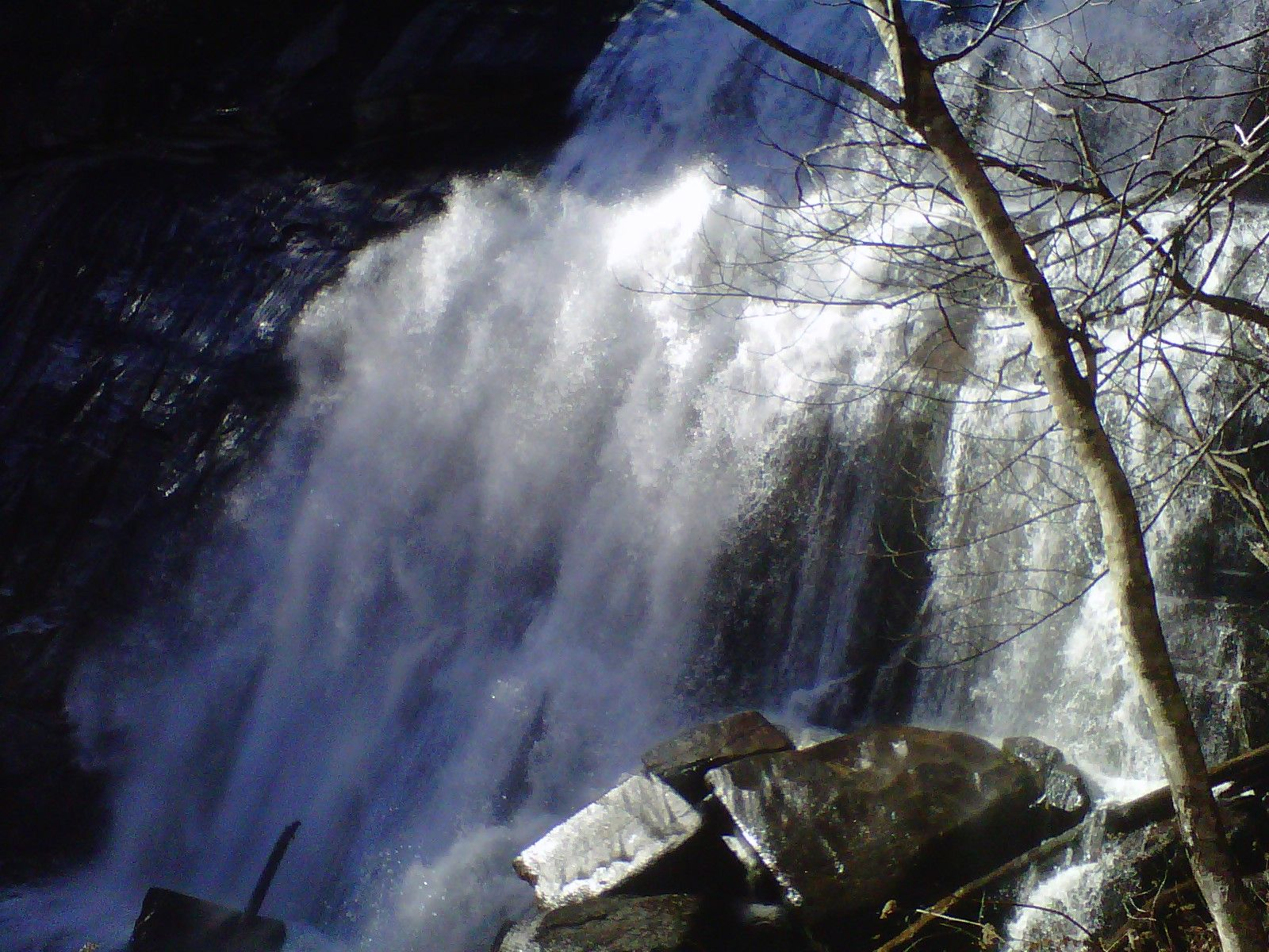 Waterfall along one of the 6 hiking trails of Gorges State Park