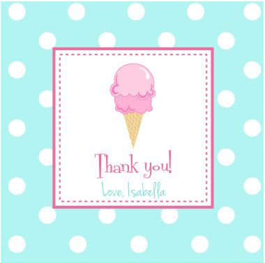 Ice Cream Party Favor Tags by Announciation on Etsy, $10.00