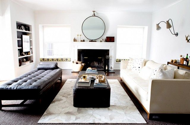 """To begin the decorating process, Lane opted to paint the majority of the home a stark white. """"We went with Benjamin Moore 'Super White' throughout the entire house,"""" Lane..."""