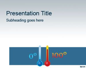 Chemistry Thermometer Powerpoint Template Powerpoint Templates