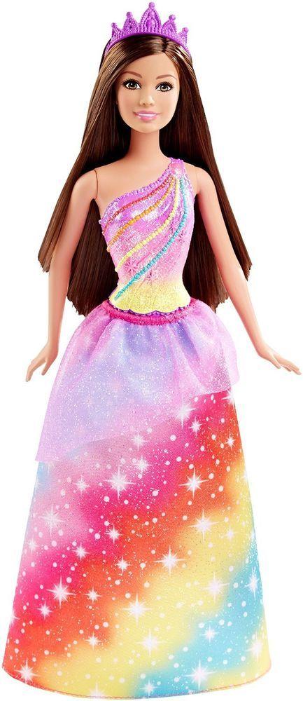 Mattel - Barbie Fairytale Princess Doll - Rainbow Fashion - Brand New