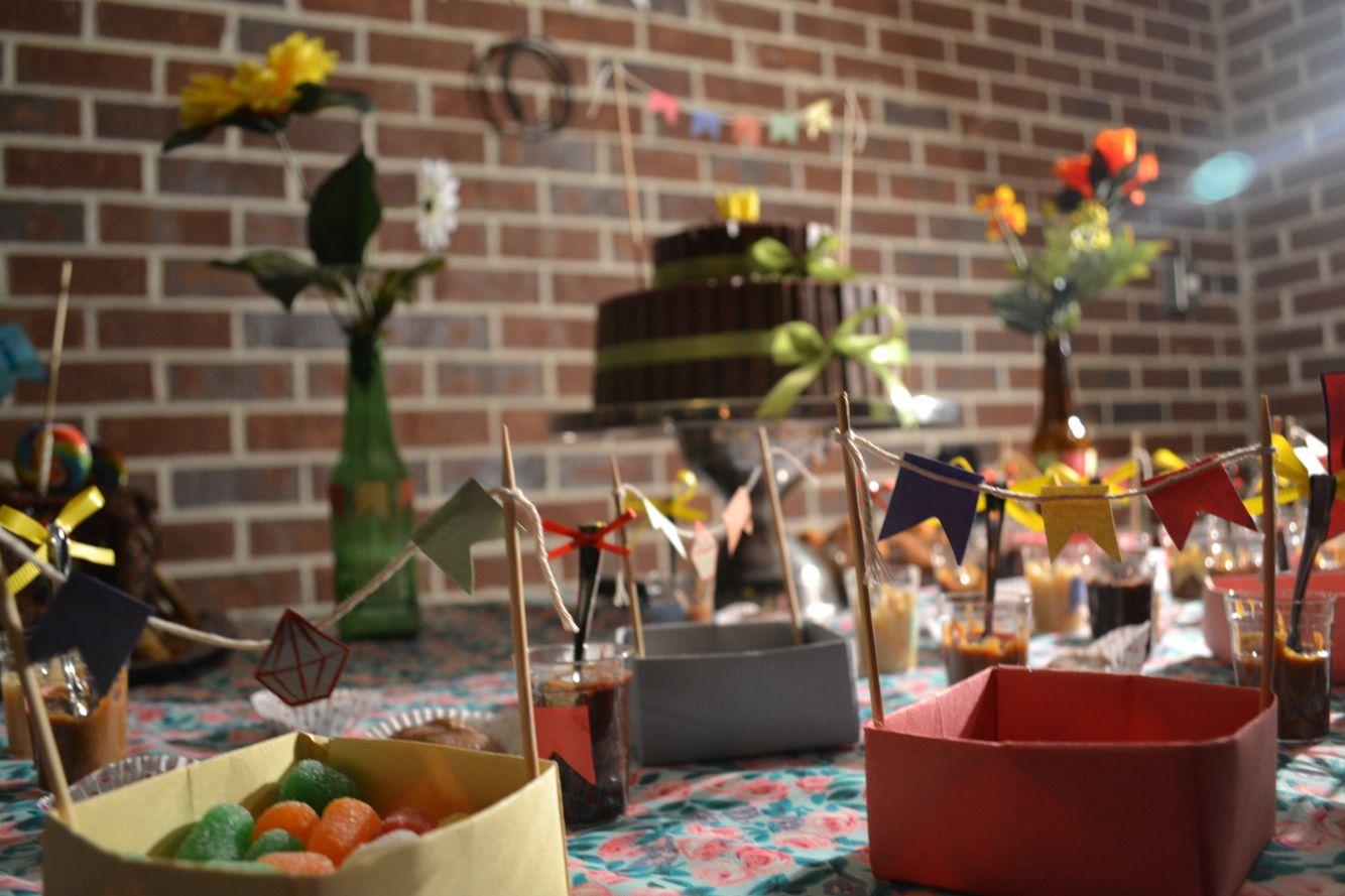 Decoração mesa festa junina