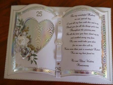 25th anniversary cards for husband
