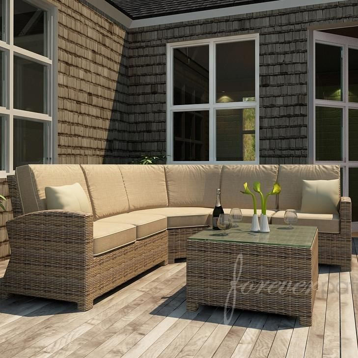Transform your patio with furniture from the Cypress collection that features gentle sweeping curves and a round wicker weave.