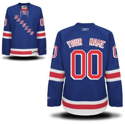 Reebok New York Rangers Women s Premier Home Custom Jersey - Royal Blue 390cbd5fe