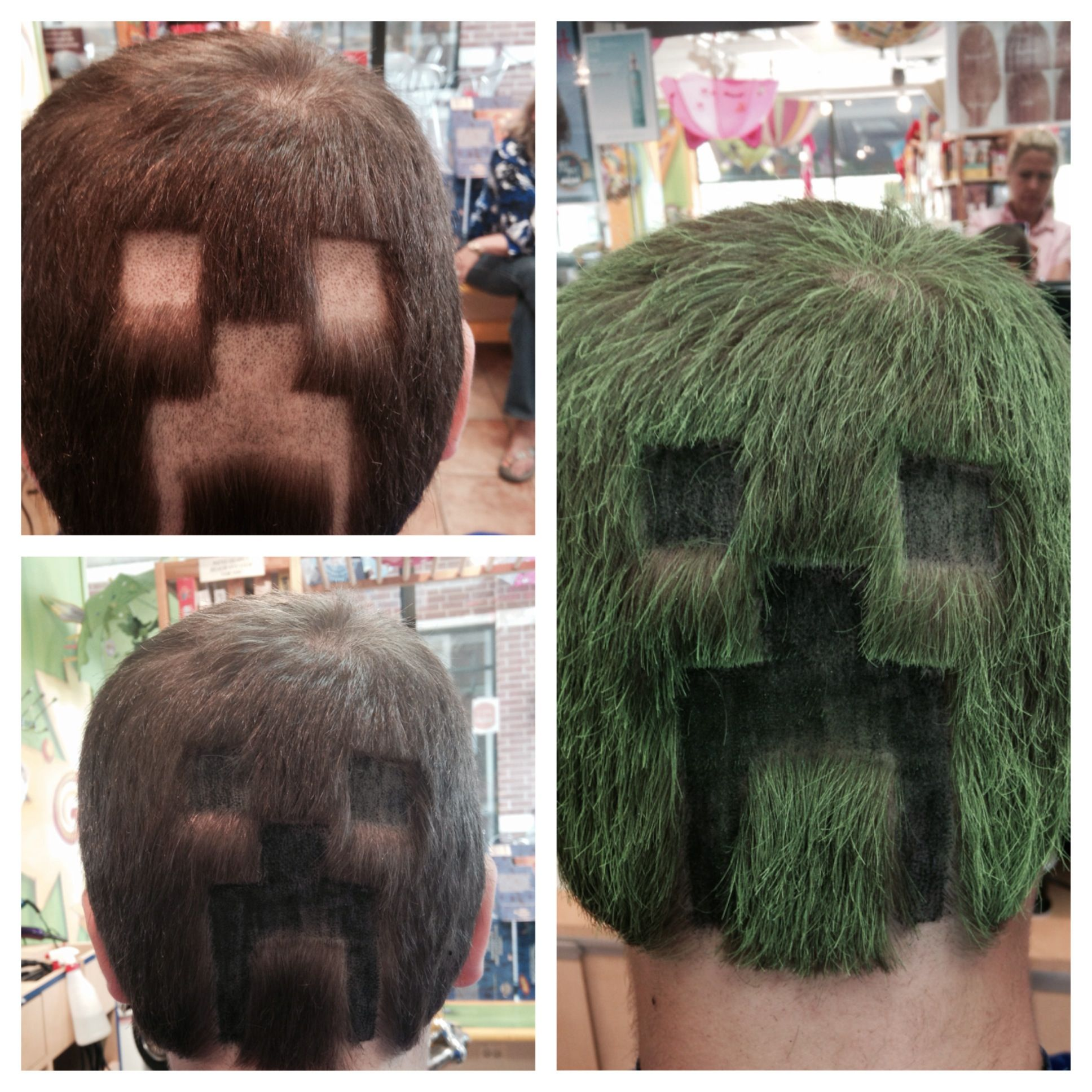 fun with clippers! Minecraft\'s CREEPER ~ KidSnips.com | HAIR HAIR ...