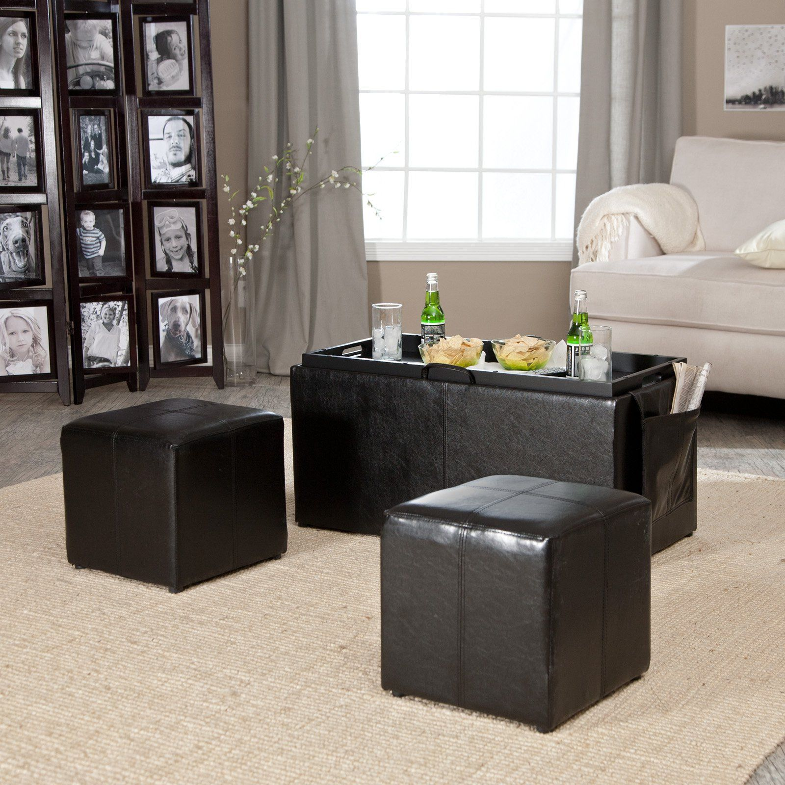 Double Ottoman Coffee Table 11