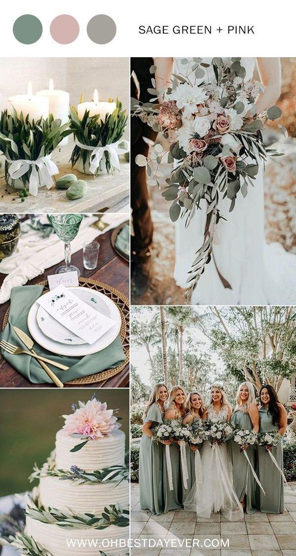 idées de couleur de mariage vert et rose pour … – # pour # vert # mariage …   – Louis