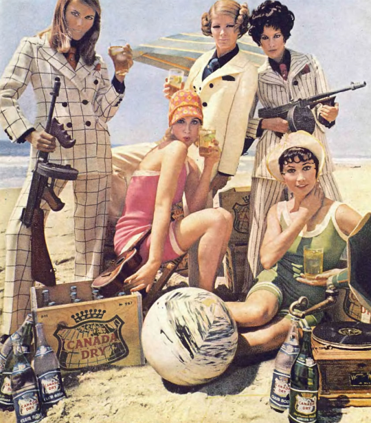 Detail from 1968 Advertisement for Canada Dry