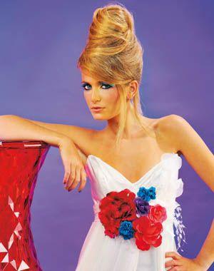 Coiffure de mariage : Chignon haut de Top Model | Coiffure de mariage chignon, Coiffure mariage ...