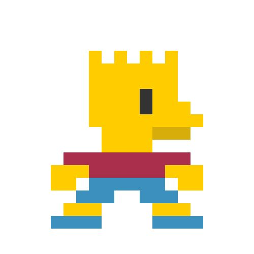 Pixelated-cartoon-characters-bart Simpson