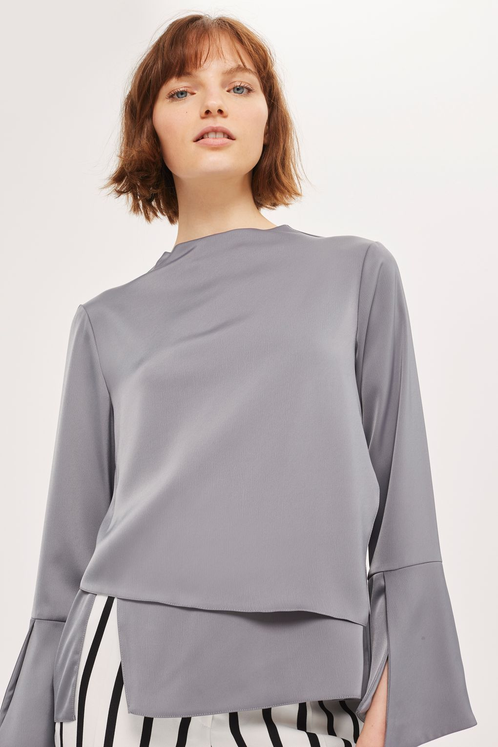 1af19abc69f04a Split Sleeve Layered Top - Shirts & Blouses - Clothing | BLOUSES ...