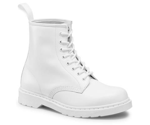 a49fe42ea5b Dr. Martens all-white 1460 MONO Boots. This is actually a man s boot.  Keeping these clean would be a pain in the butt.