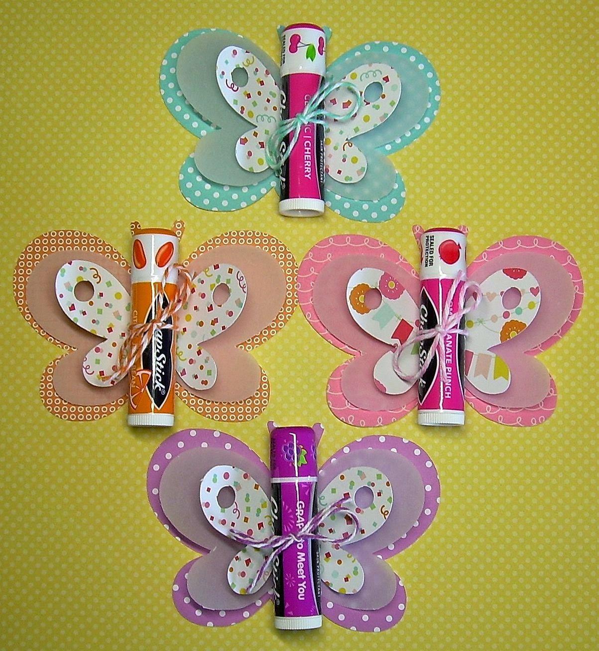 chapstick butterflies what a cute idea for a little girls party