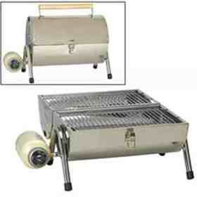 Stainless steel gas barbeque grill #barbeque