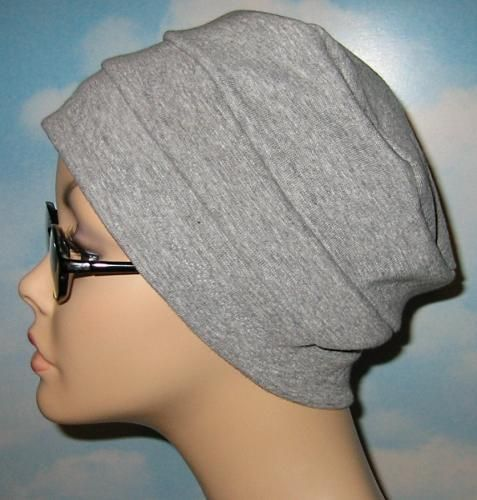 Free Patterns For Chemo Caps To Sew Band Gray Knit Chemo