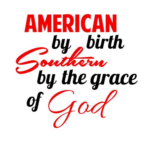 American by birth southern by the grace of god vinyl decal southern living car