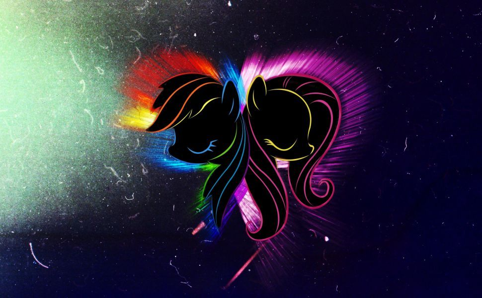Rainbow Dash Amp Fluttershy Hd Wallpaper My Little Pony
