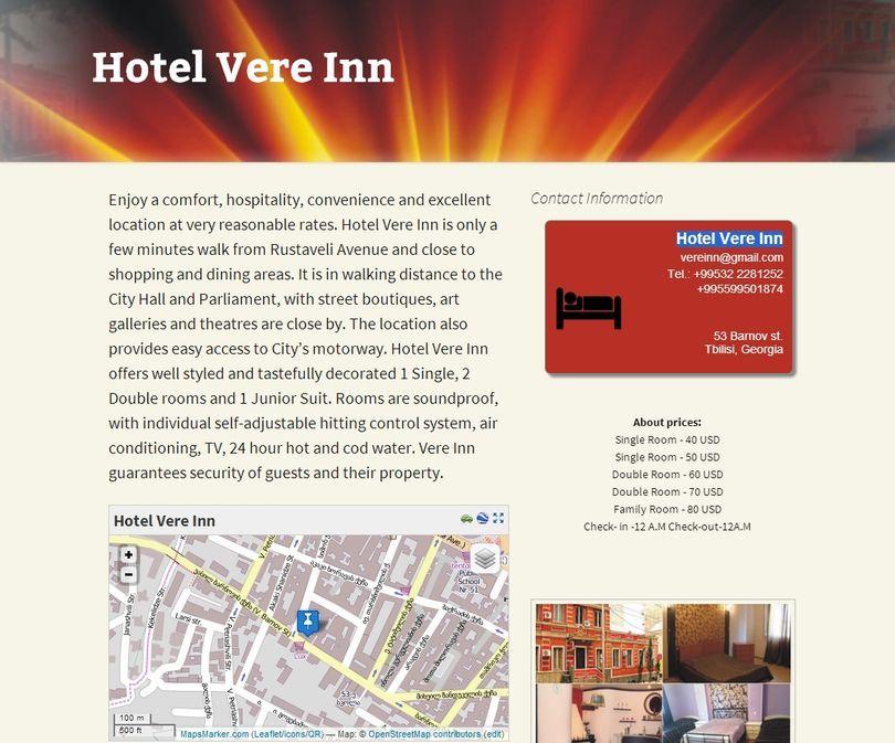 Hotel Vere Inn, Tbilisi