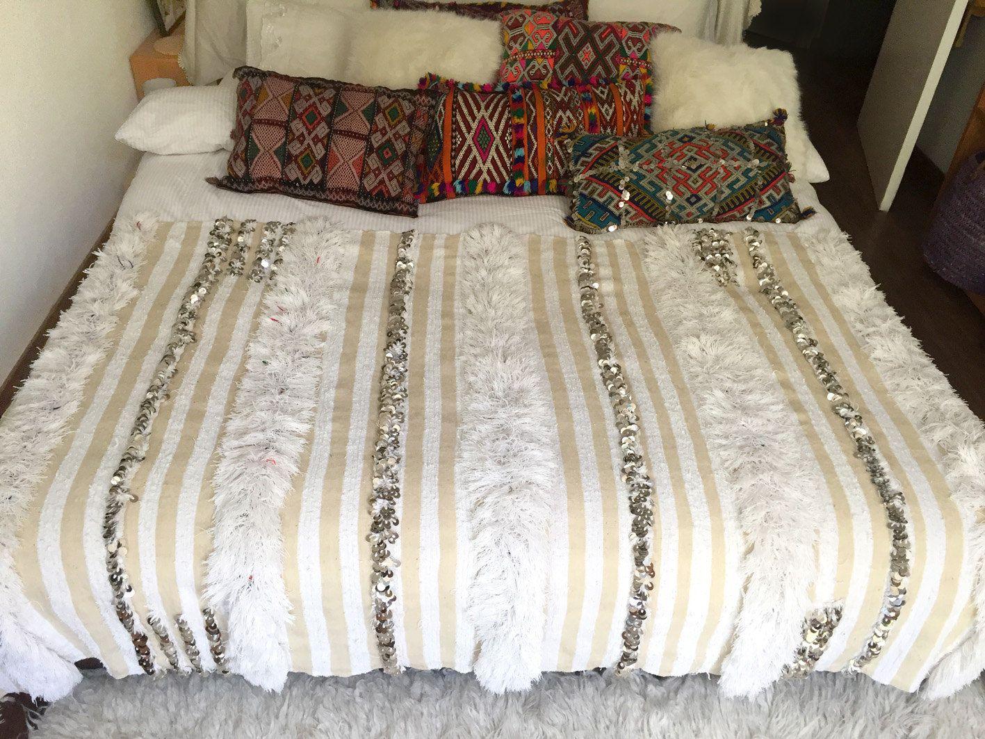 "Moroccan wedding blanket ""MELODY"" Vintage Berber wedding blanket ..."