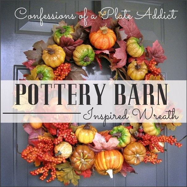 Pottery Barn Inspired Fall Wreath And It Was Free Diy Fall Wreath Pottery Barn Inspired Fall Wreath Tutorial