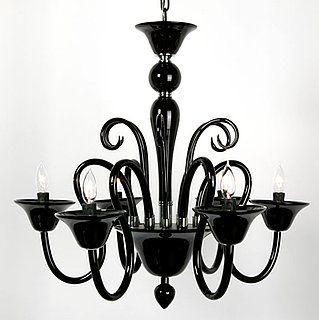 Murano glass chandelier dwr decor pinterest black glass murano glass chandelier dwr aloadofball Choice Image