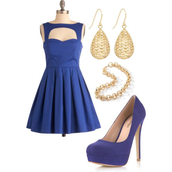 Royally Blue, created by likaschaaf on Polyvore  sooo cutteee!