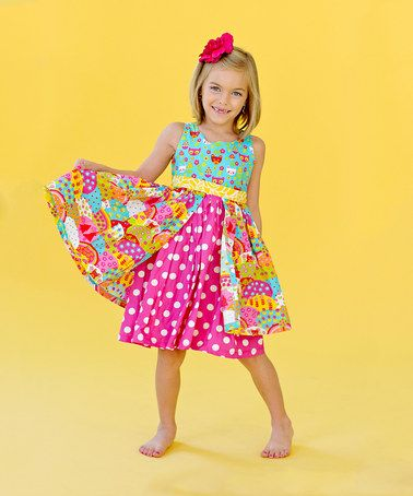 Take a look at this Happy Katy Dress - Toddlers and Girls by Jelly the Pug on #zulily today! Stunning & half price!!!!