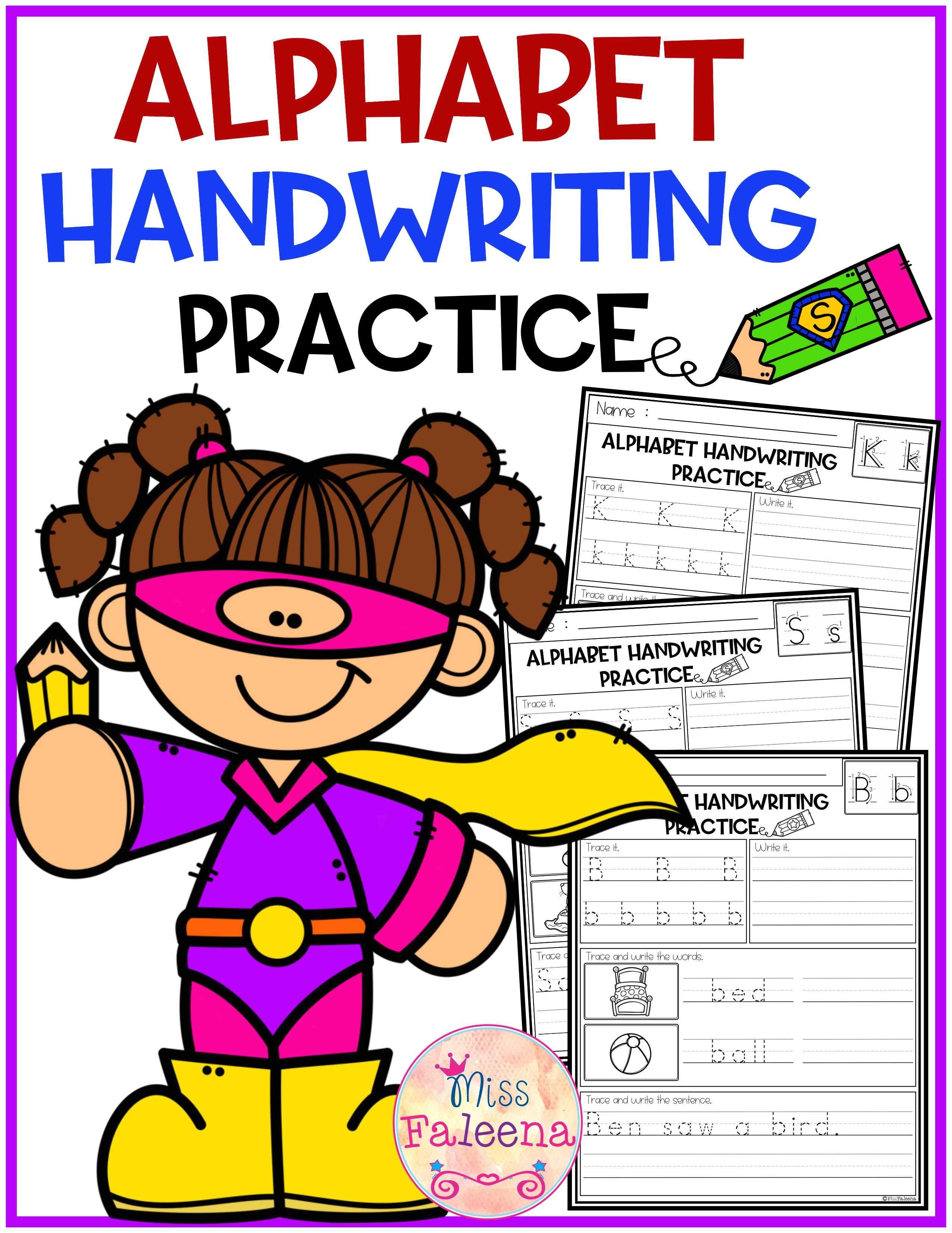Alphabet Letters Handwriting Practice