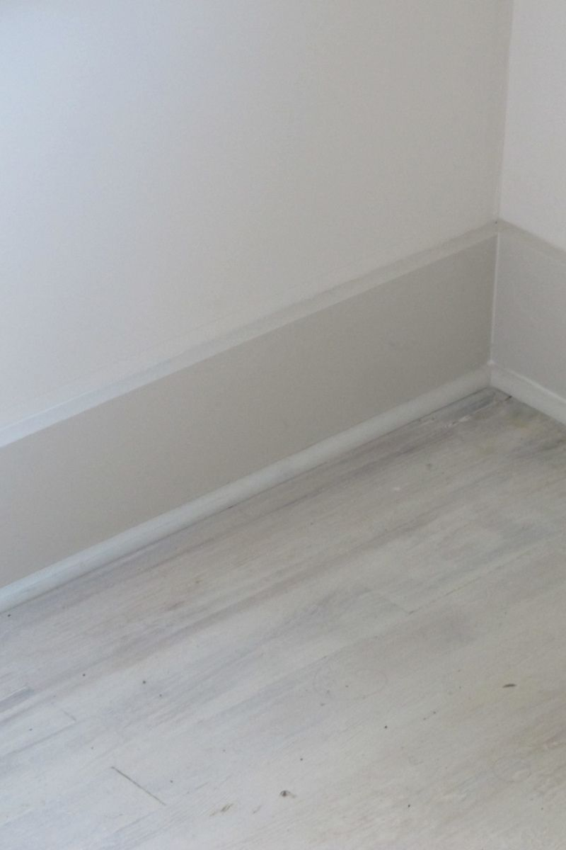 Grey Wash Floor Using Paint White