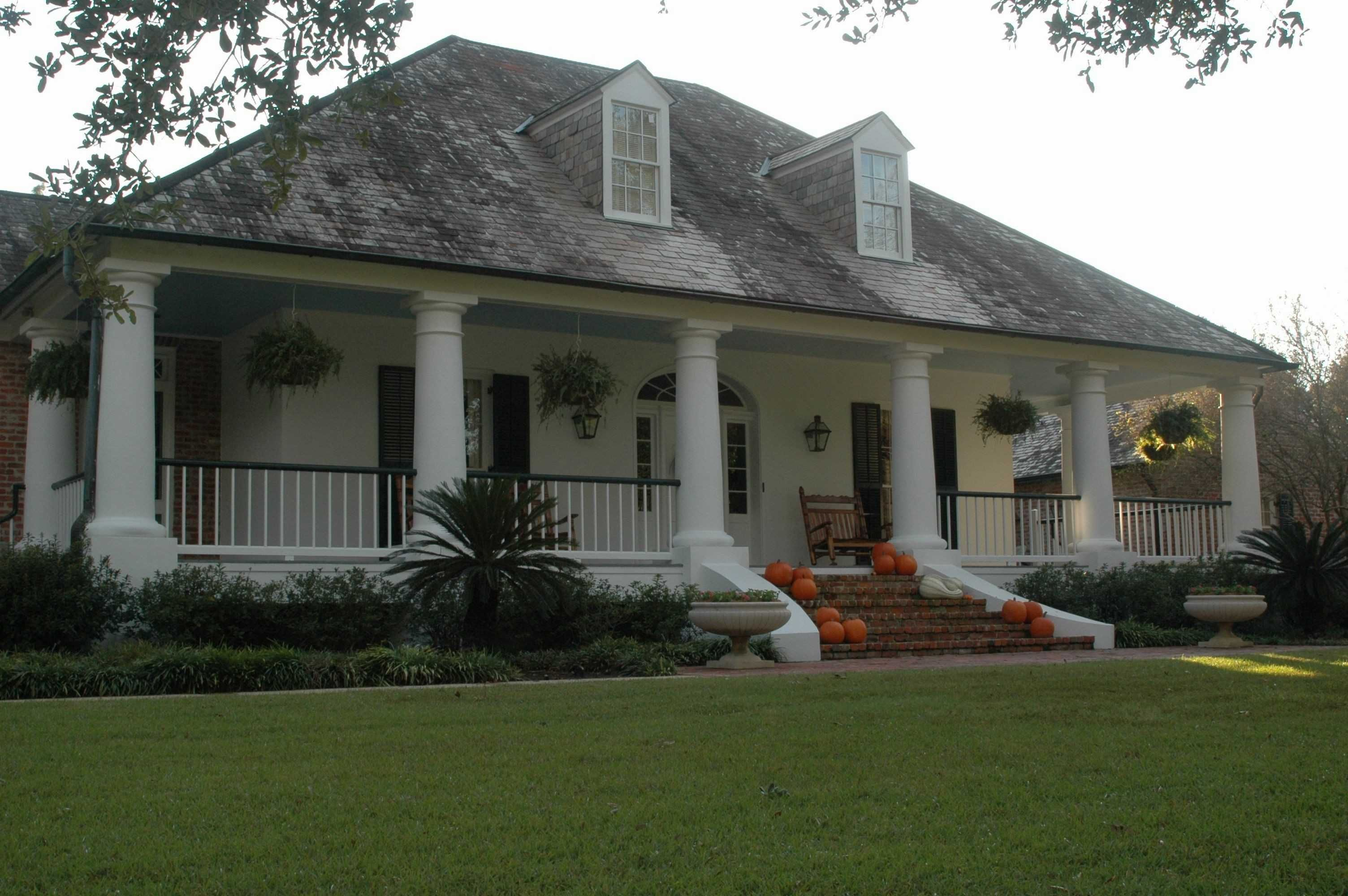 Country Style Wrap Around Porch Farmhouse Plans Elegant