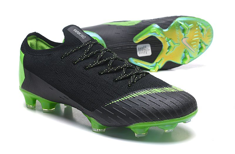 171f5cc310b Nike Mercurial Vapor XII Elite FG Firm Ground Cleats - Black Green ...