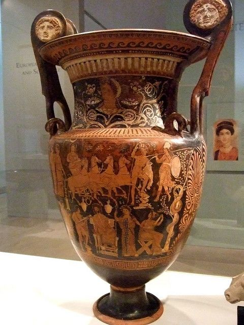 Volute Krater Greek South Italy Apulia 4th Century Bce Attributed To
