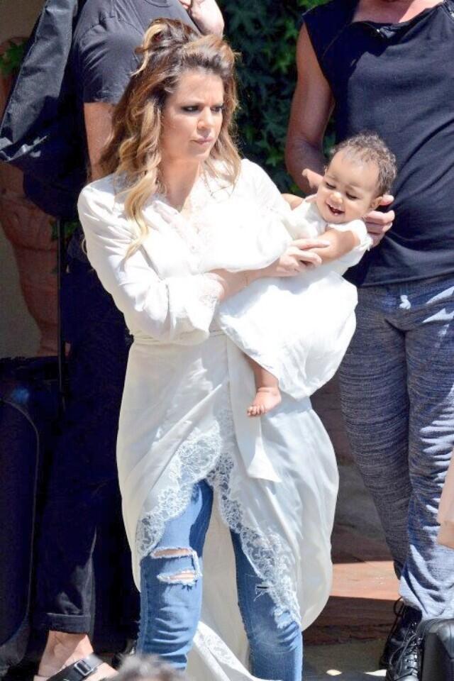 Khloe Kardashian & her niece North West