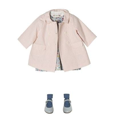 Summer outfit - Pink, striped coat - Bonpoint