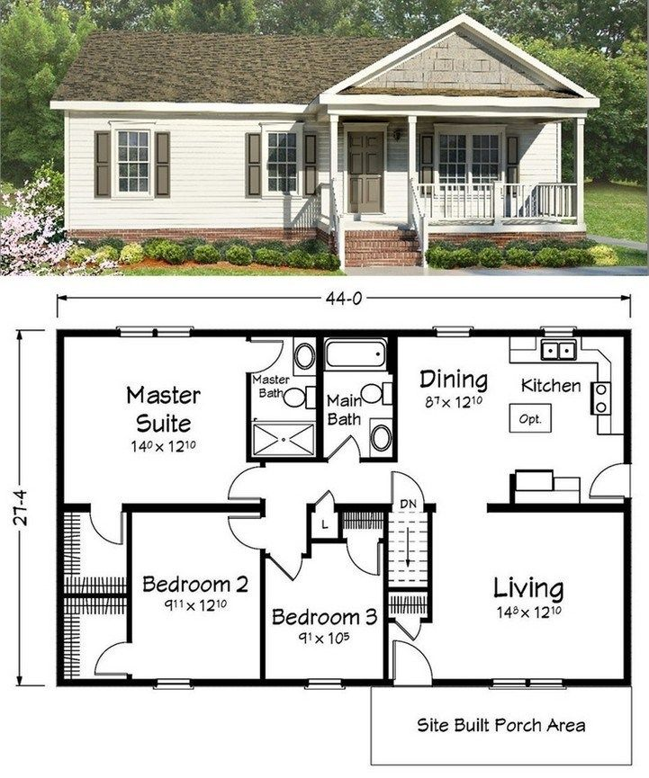 47 adorable free tiny house floor plans 48 ~ Design And ... on ranch house elevations, ranch house construction, farm plan layout, ranch house design,
