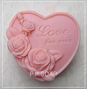 Flor Rosa silicona molde de jabón DIY artesanal 3d jabón