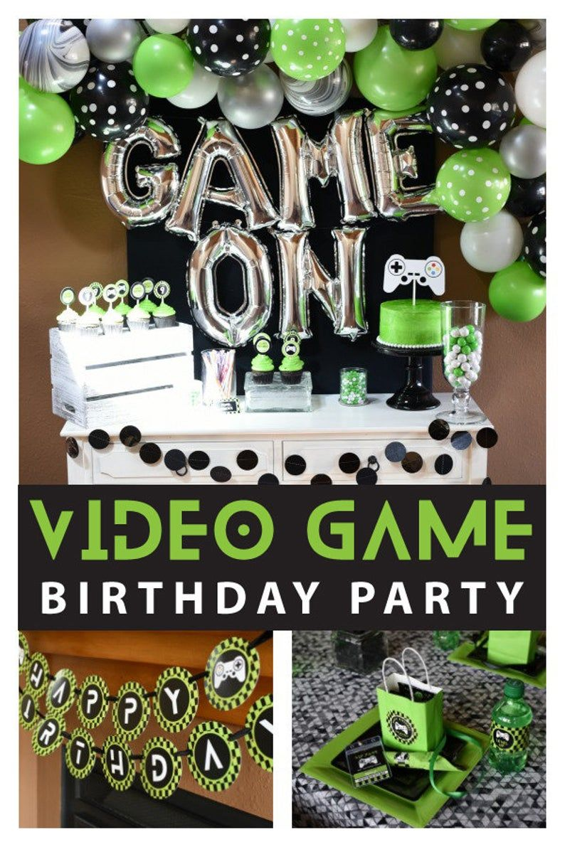 Instant Download Video Game Birthday Party Package Perfect Etsy In 2021 Game Truck Birthday Party Video Games Birthday Party Boys Birthday Party Games